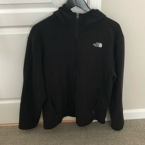 The North Face Full Zip Fleece Hoodie Black Large